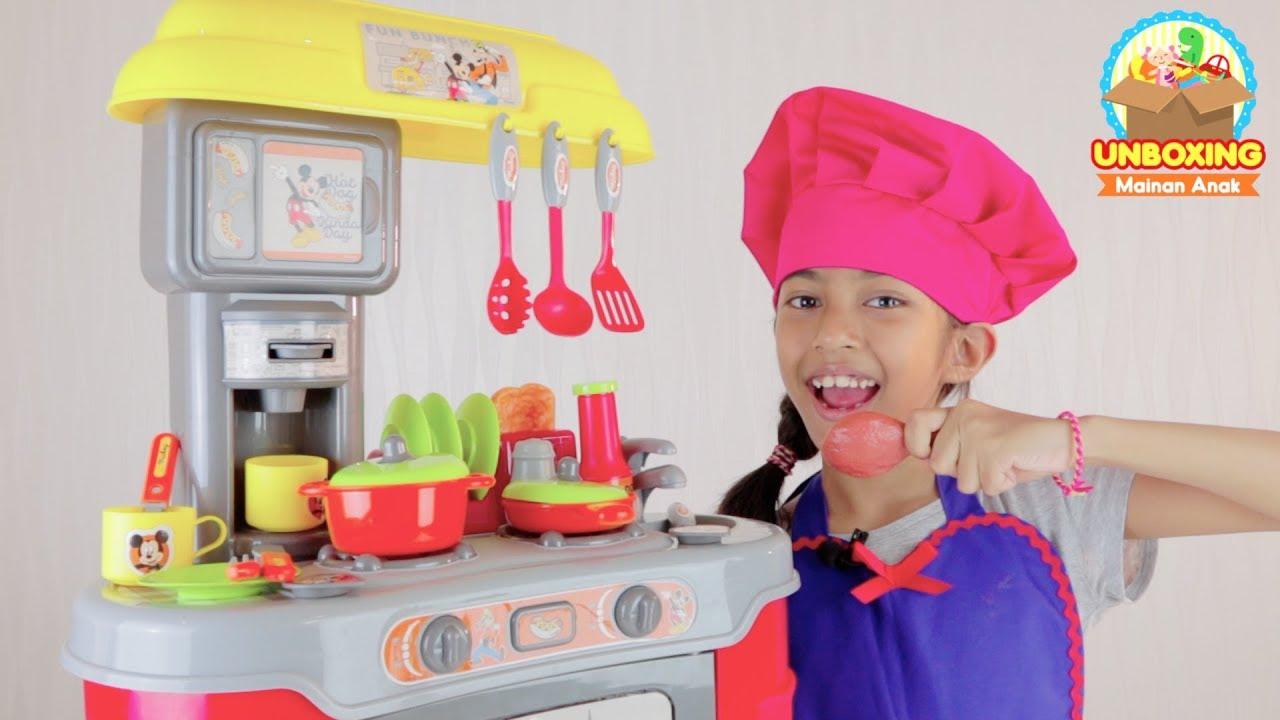 Unboxing Mainan Masak Masakan Disney's Mickey Mouse Bagus