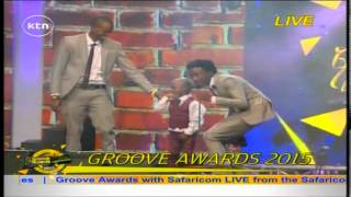Download Video Bahati Wins The Most Downloaded song on Skiza Tune at the Groove Awards 2015 MP3 3GP MP4