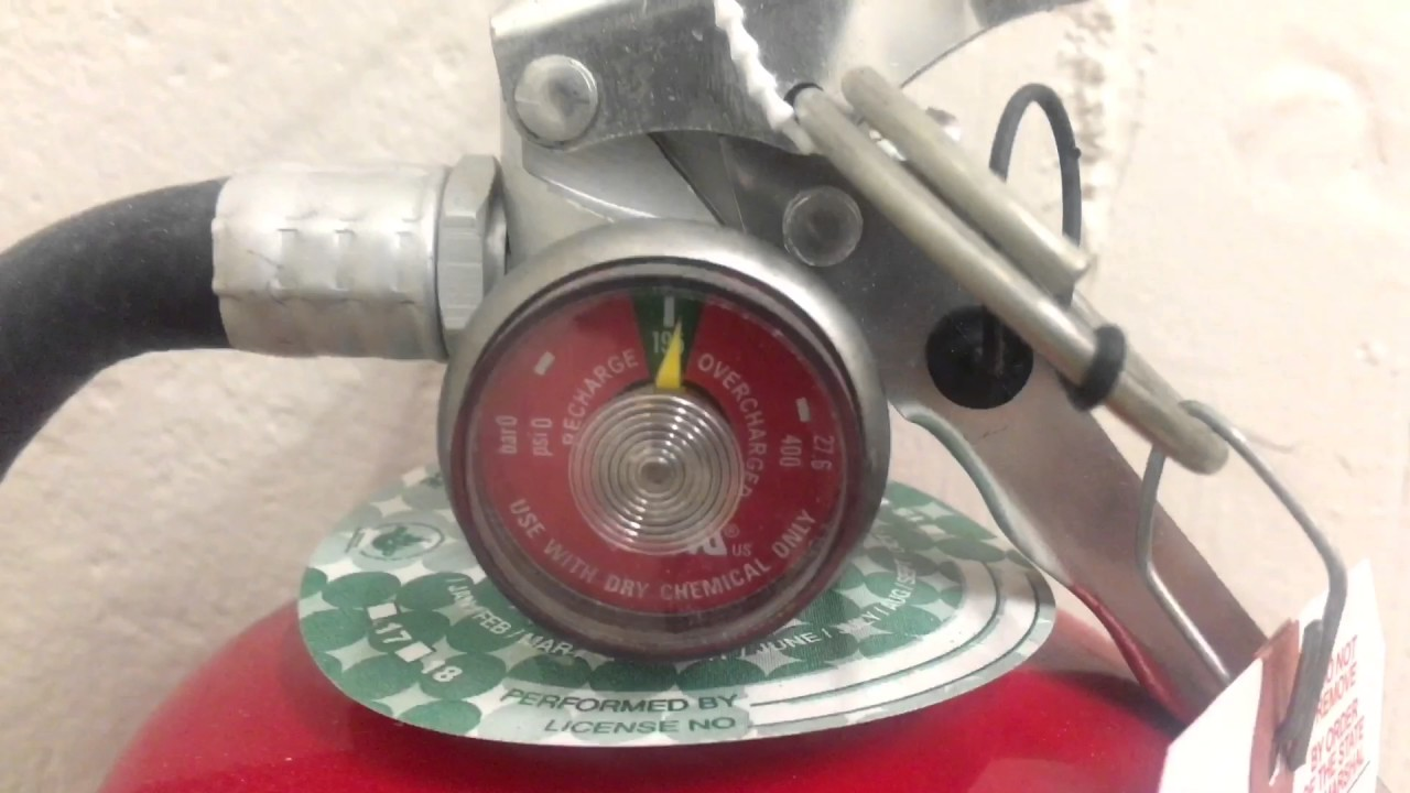 FIRE EXTINGUISHER INSPECTION - HOW TO INSPECT A FIRE EXTINGUISHER