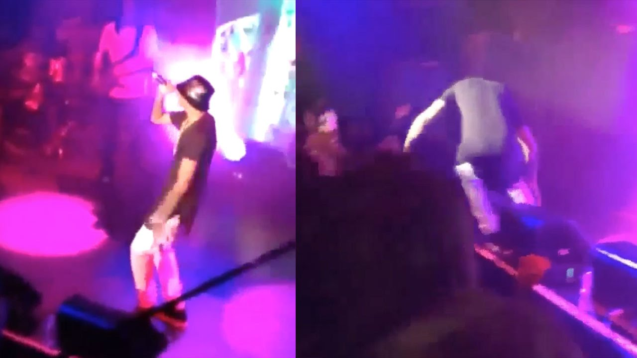 August Alsina Collapses, Falls Off Stage in NYC; Singers