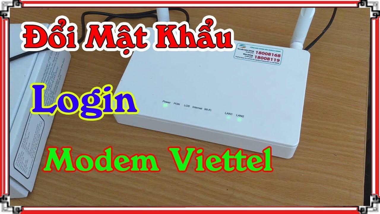 Hiếu wifi - Cách Đổi Mật Khẩu Login Modem Wifi Viettel tại nhà