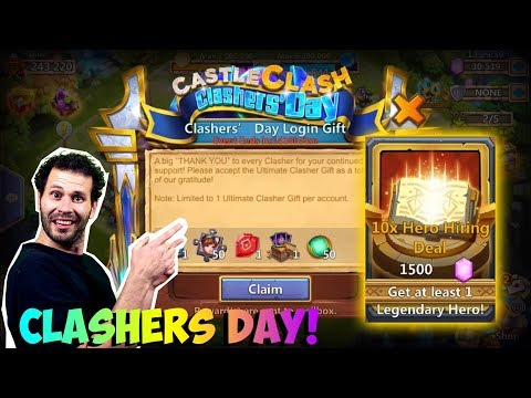 JT's F2P Clashers Day Collect All The Rewards! 1200 Gem Roll Castle Clash