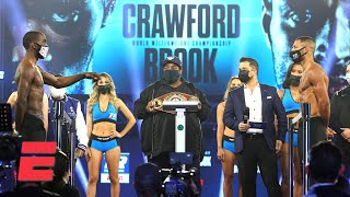 Terence Crawford & Kell Brook make weight, stare each other down | Boxing on ESPN