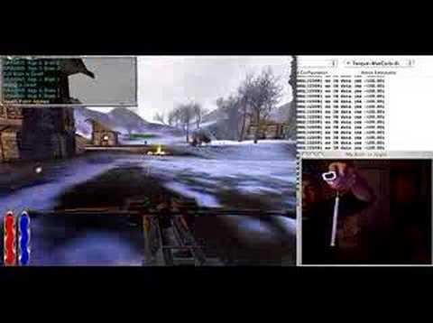 Wii remote + IR sensor bar controlling Mac OSX 3D game