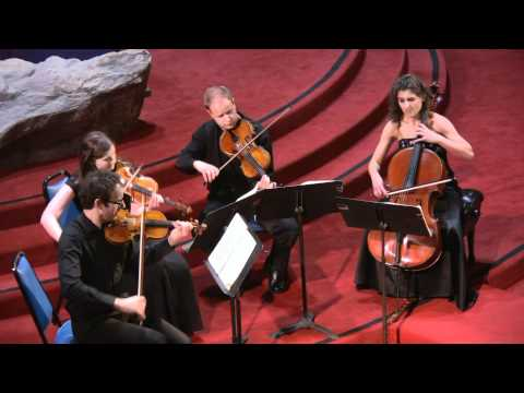 "Carducci String Quartet performs Antonin Dvorak String Quartet No.12, Op.96, B. 179 ""American"" Mvt I"