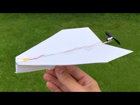 How to Make a Paper Plane with DC Motor - Electric Paper Aeroplane