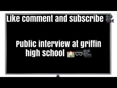 Public interview at griffin high school 🏫🥽
