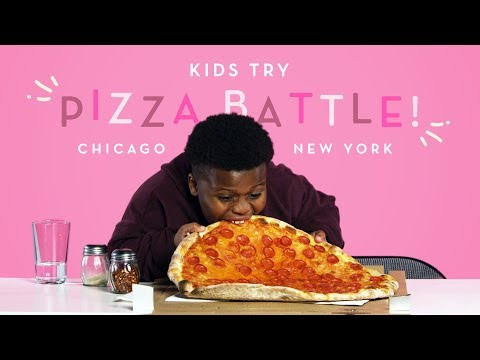 Kids Try Pizza Battle! New York Thin Crust vs. Chicago Deep Dish | Kids Try | HiHo Kids