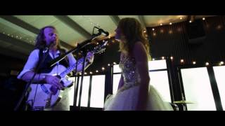 Bride and Groom rock out at Yellow Rock events. Best event venue in Amarillo TX.