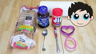 Peanut Butter Jelly Time with Funny Kids - Making a Peanut Butter and Jelly Sandwich