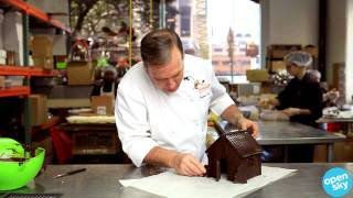 Jacques Torres makes ginger bread house with chocolate