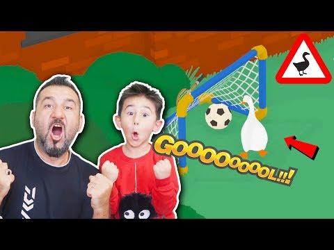 PAYTAK KAZ İLE KALEYE GOL ATMA GÖREVİ! | UNTITLED GOOSE GAME OYNUYORUZ |