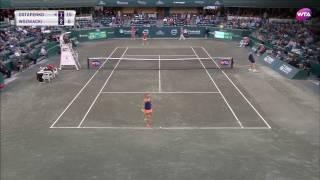 2017 Volvo Car Open Quarterfinal   Jelena Ostapenko vs Caroline Wozniacki   WTA Highlights