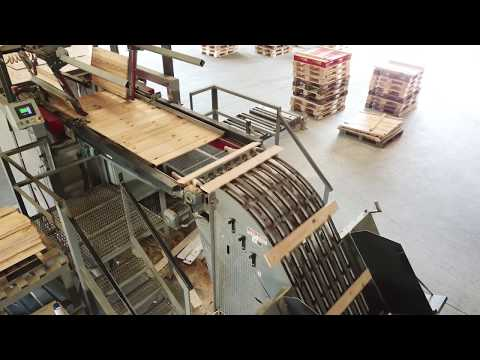Cut-up Line with West Plains 400 Series Resaw and AIT TS300 Board Stacker