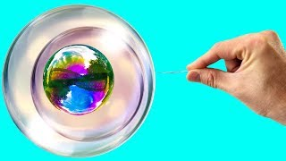 The RAINBOW BUBBLE Experiments | DIY Easy Science Experiments You Should Try Right Now