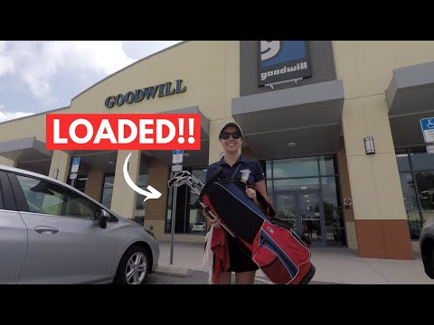 THESE THRIFT STORES WERE LOADED WITH GOLF CLUBS!! ($100 PROFIT CHALLENGE)
