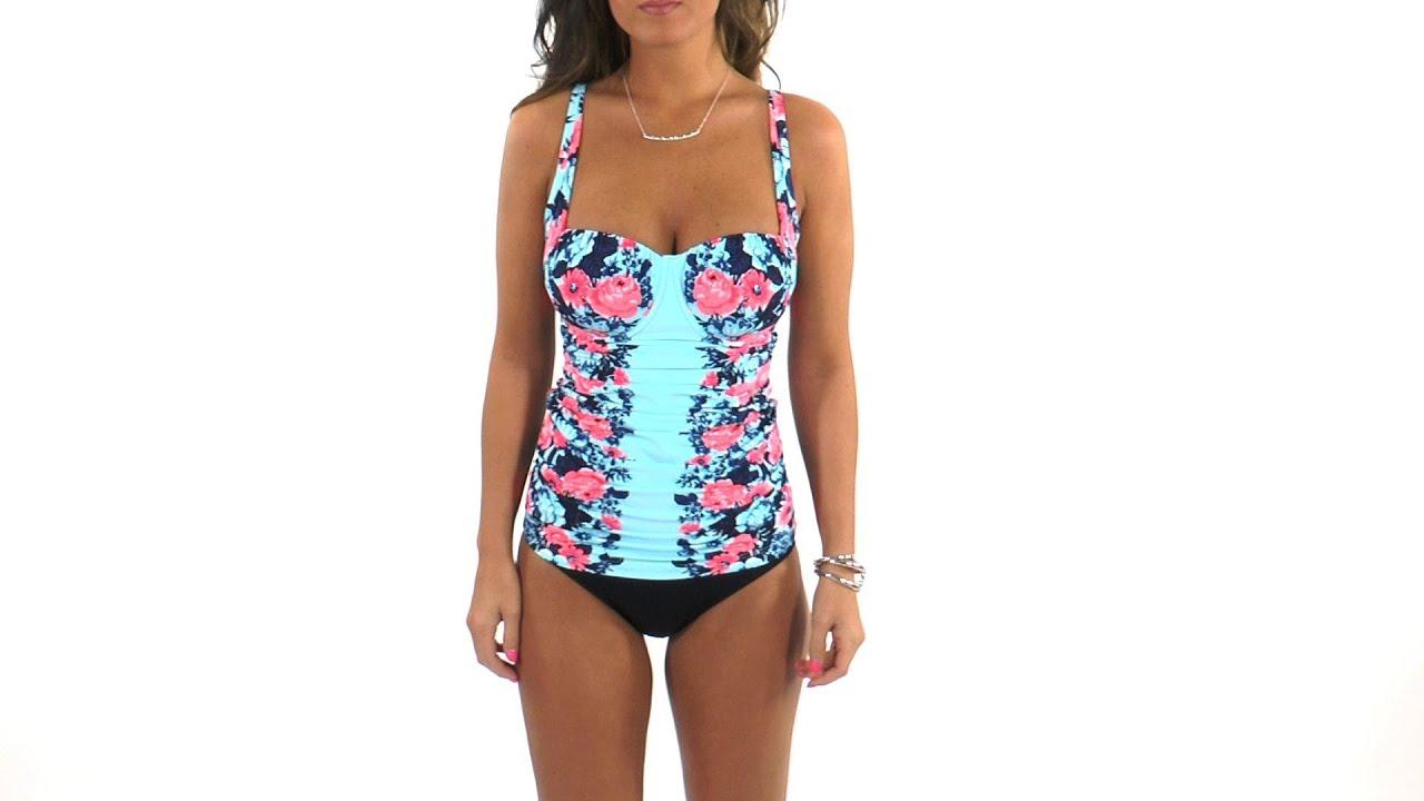 4ef9801815521 Seafolly Bella Rose DD-Cup Balconette Tankini Top | SwimOutlet.com ...
