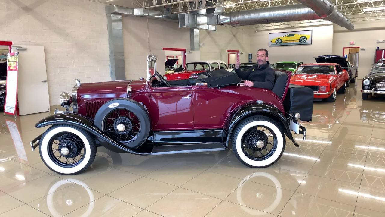 1930 Ford Model A Cabriolet With Driving Sounds Walk Through