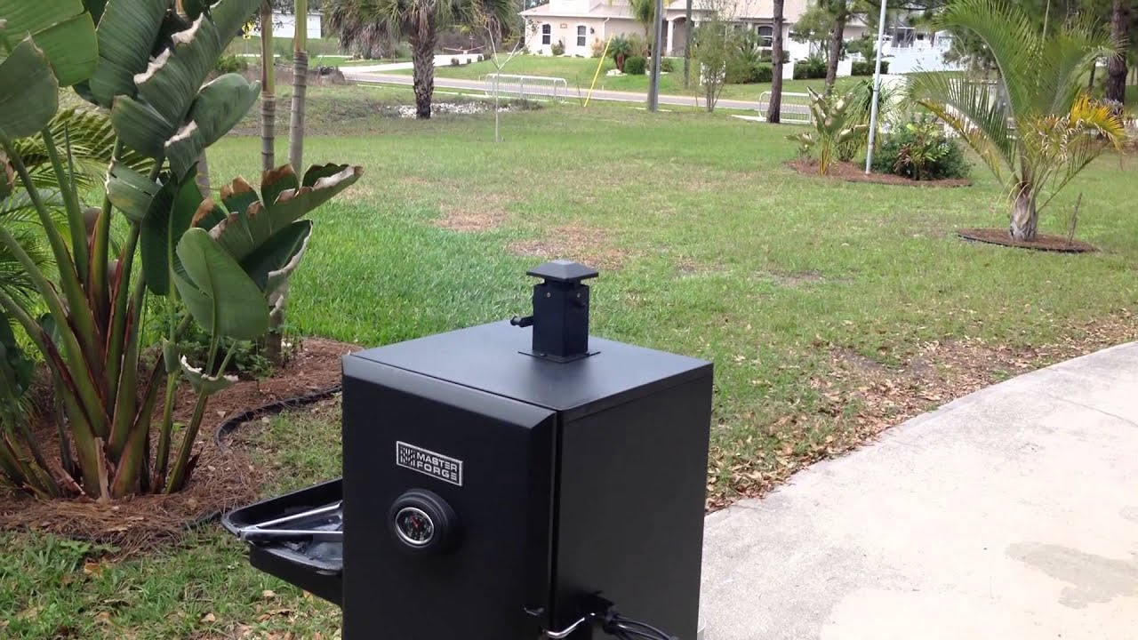 Master Forge Vertical Propane Smoker Youtube