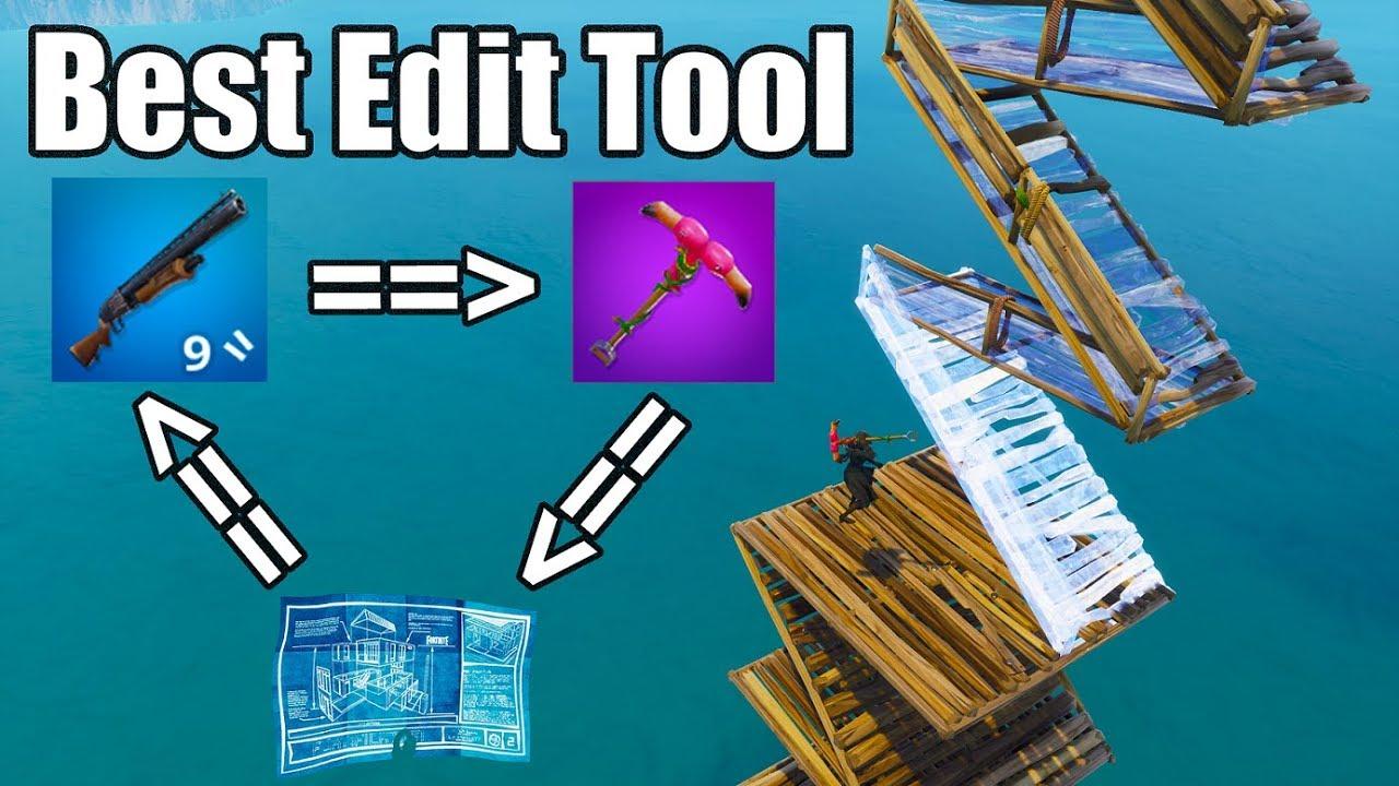 Best Editing Tool - Pickaxe vs Gun vs Map - Fortnite Battle Royale