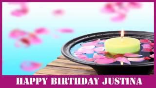 Justina   Birthday Spa - Happy Birthday