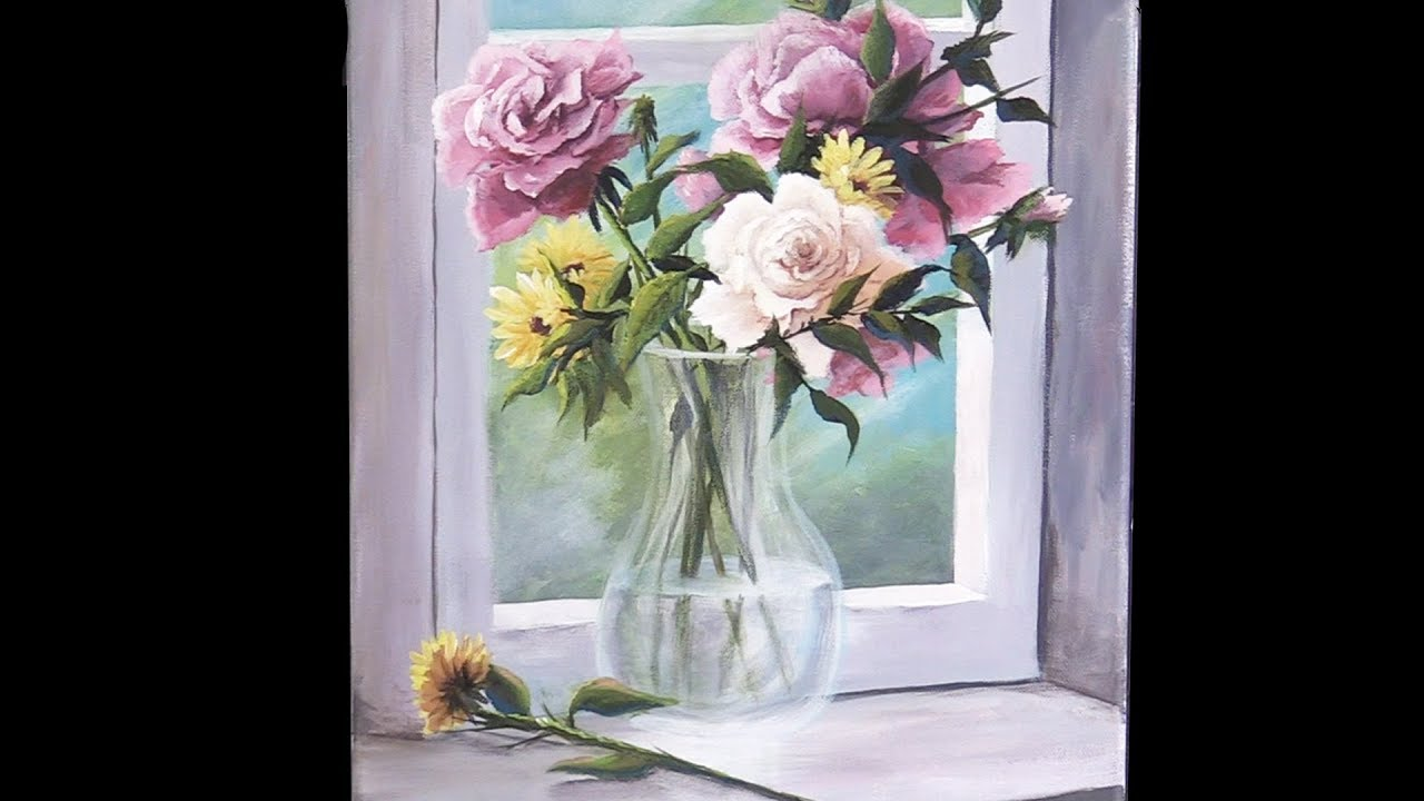 YouTube & Acrylic Flowers in a Vase | Paint with Kevin ®