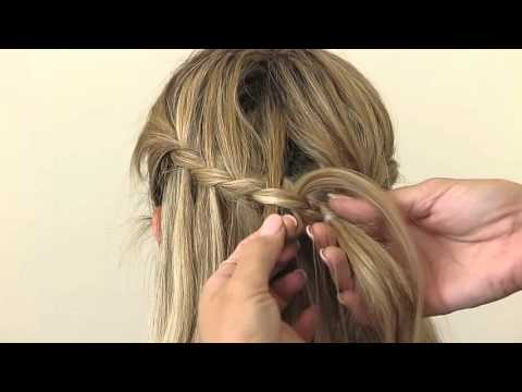 Waterfall Braid With Glamorous Curls
