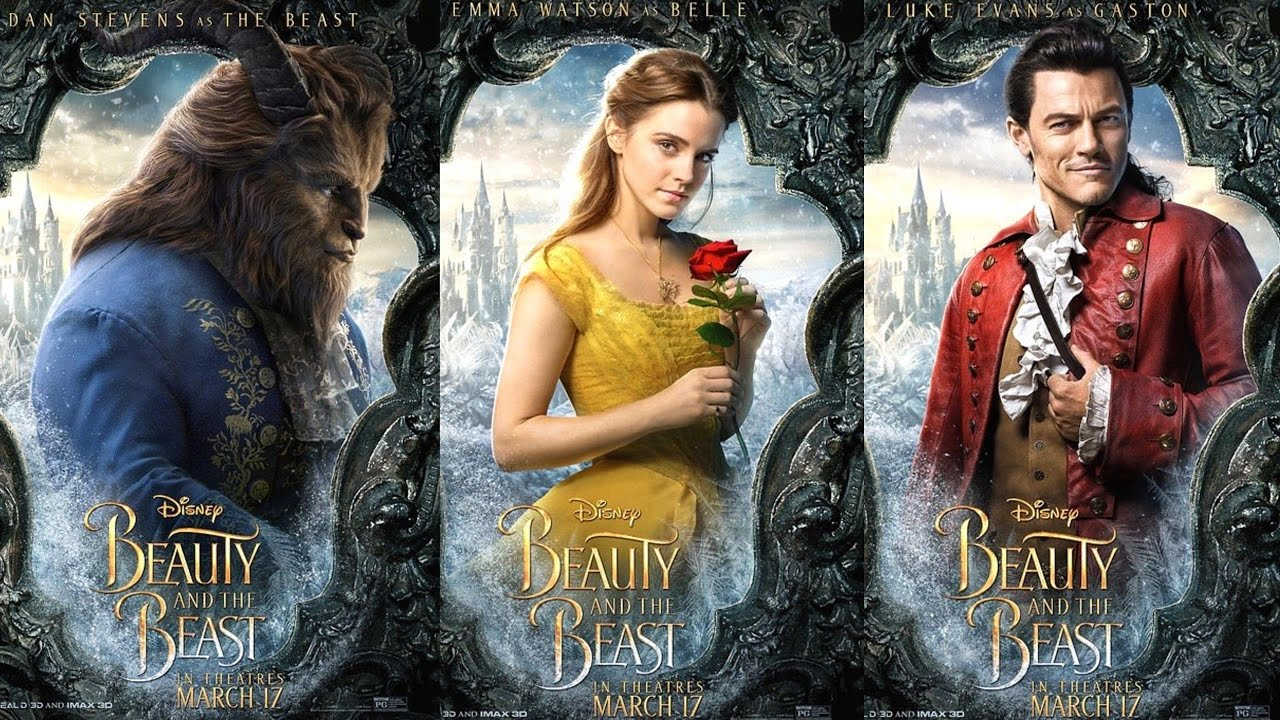 Disney Beauty And The Beast Live Action Posters