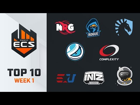 Top 10 Best Plays - ECS S7 Week 1 - Feat. NiKo, MSL, Hiko!