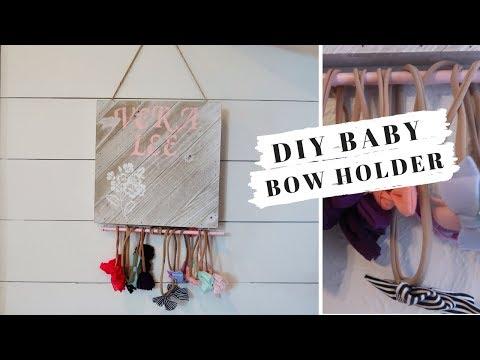 DIY BABY BOW HOLDER: $20 DOLLARS OR LESS
