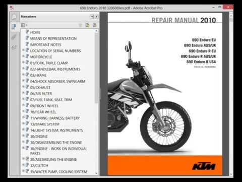 ktm 690 enduro service manual wiring diagram youtube