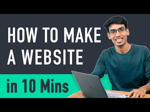 How to Make a Website in 10 mins - Simple \u0026 Easy