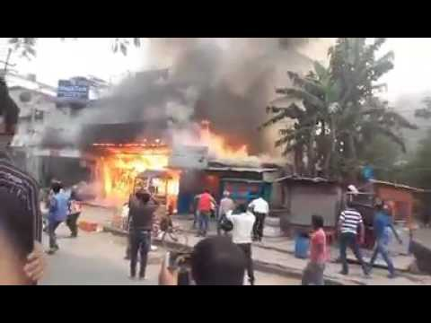 Fire at Guwahati,narangi in hotel