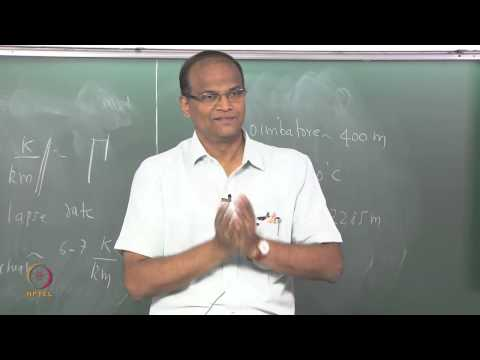 Mod-01 Lec-14 Concept of air parcel and dry adiabatic lapse rate