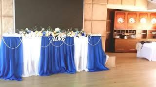 какой цвет свадьбы выбрать? синяя свадьба, ресторан Свеча, красивая свадьба