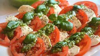 САЛАТ КАПРЕЗЕ С СОУСОМ ПЕСТО ✧ Salad Caprese with Pesto Sauce ✧ Марьяна