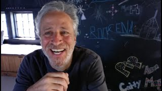 Jon Stewart joins our zoom to thank VA Hospital Therapists, Staff, Veterans/Servicemembers.