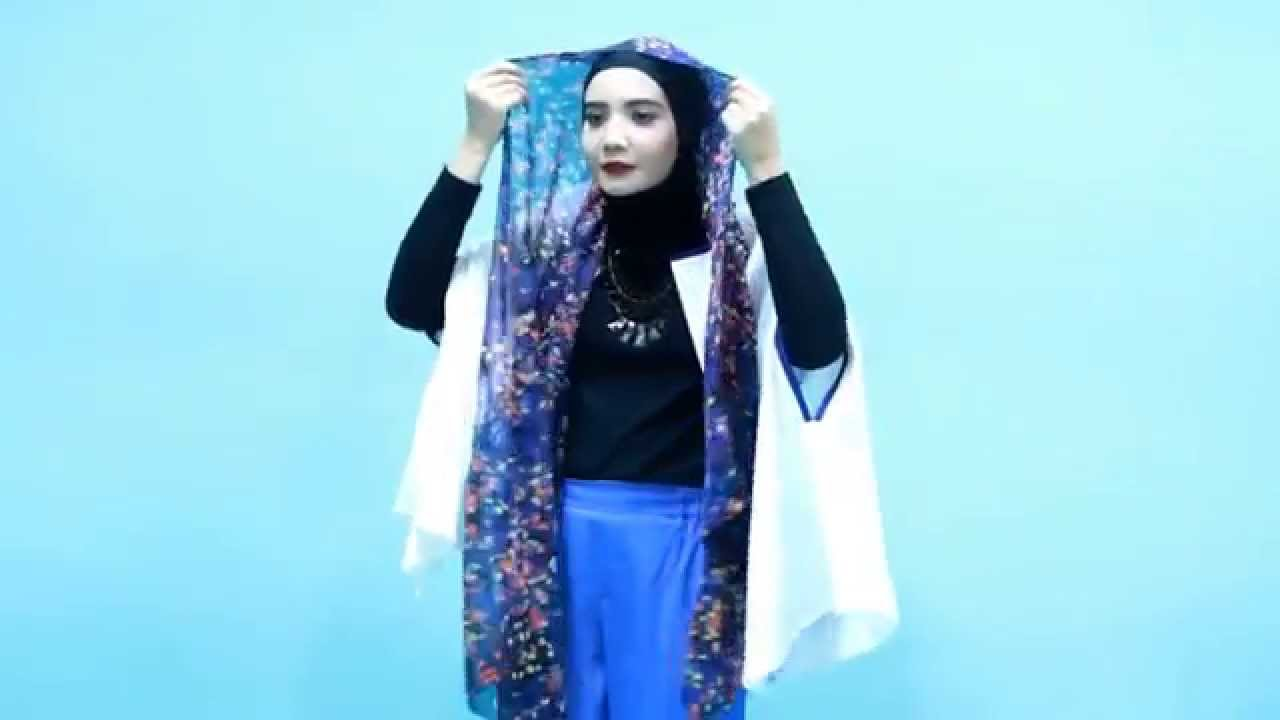 Tutorial Hijab Zaskia Sungkar Pashmina Floral Style YouTube