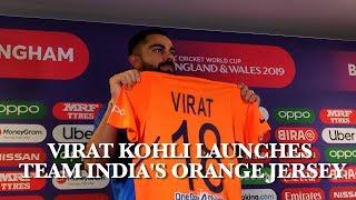 Virat Kohli Launches Team India's Orange Jersey