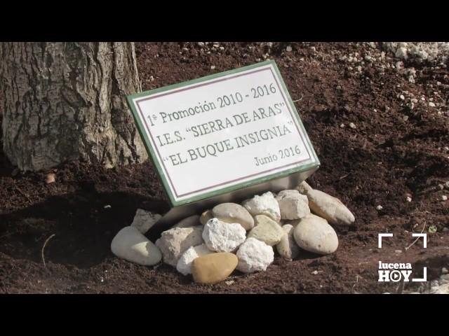 VÍDEO: La primera promoción de alumnos del IES Sierra de Aras regala al centro un árbol