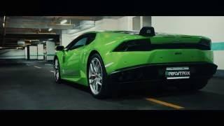 Lamborghini Huracan LP610-4   Armytrix Système Echappement VALVETRONIC   moteurs sons & bruit!