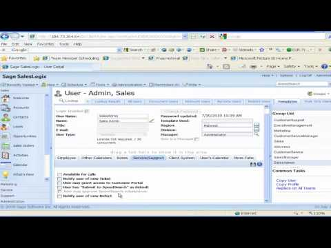 SalesLogix Cloud Administration Options I