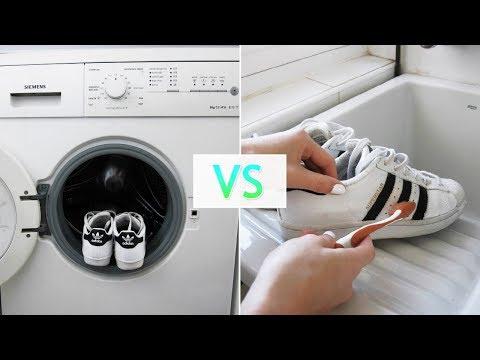 Lavadora VS A mano ¿Cómo es mejor limpiar las Adidas Superstar?