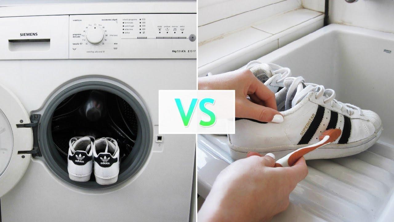 Cíclope búnker Fragua  Lavadora VS A mano ¿Cómo es mejor limpiar las Adidas Superstar? - YouTube