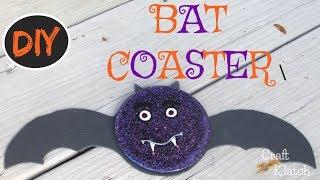 DIY Halloween Bat Coaster Craft Tutorial | Another Coaster Friday | Craft Klatch