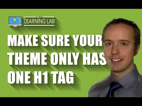 H1 Tag SEO - There Should Only Be One H1 Tag Per Page - WP Learning Lab - 동영상