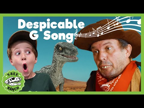 Despicable G And The Park Rangers SONG! T-Rex Ranch! Giant T-Rex & More Dinosaurs! Songs For Kids!
