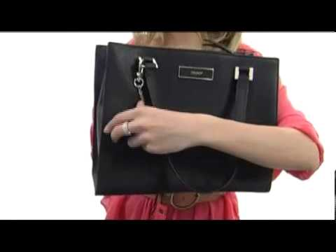 338ba63f703a5 DKNY Saffiano Leather Work Shopper SKU  8146333 - YouTube