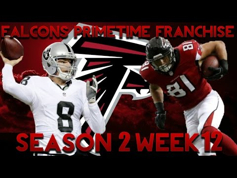 Madden 17 Falcons Franchise | Primetime League Season 2 Week 12! Connor Cook Debut! Huge Game!!
