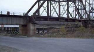 Railroad bridge swing bridge  Mississippi River Minnesota